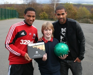 Daniel with Luke Moore and Jonathan de Guzman