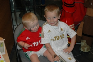 The next generation of supporters get tattooed!
