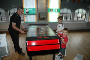 The table football challenge was on!