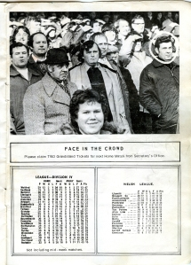 Gwyn Matthews - Face in the Crowd in Swans' programme