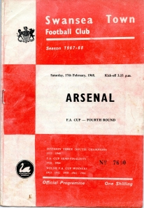 Programme cover from 1968 clash