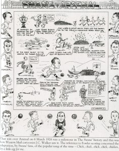 Cartoon published after Swans' victory in 1926