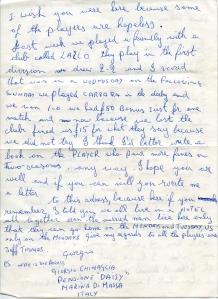 Letter from Alan Jones to Giorgio Chinaglia 1