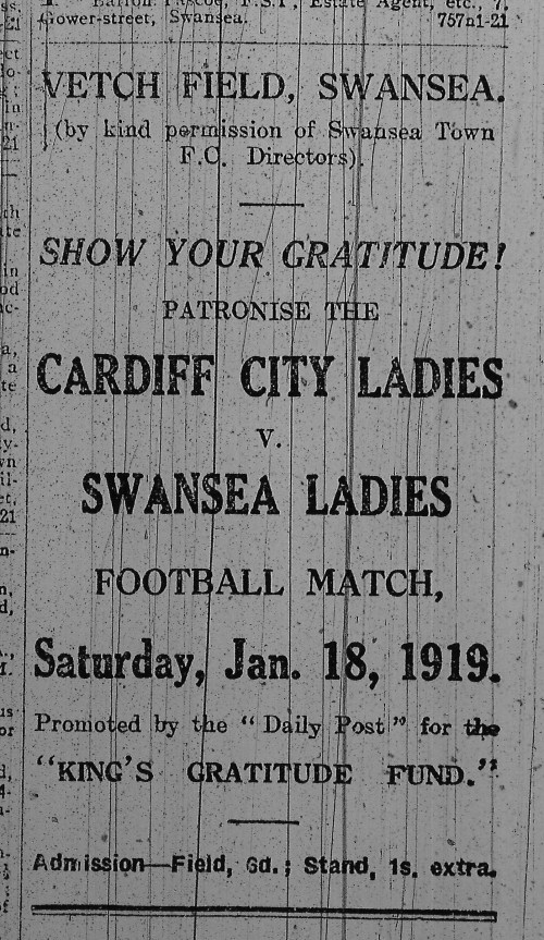 Swansea v Cardiff Ladies 1919!