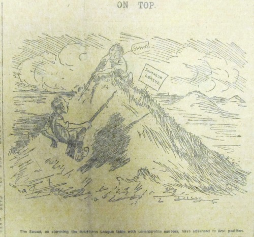 SWDP1914-10-31 Cartoon - Swans on top of the division (3)