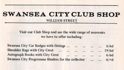 club shop 1971